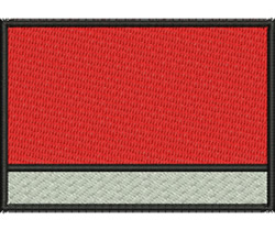 Rectangle with Banner embroidery design