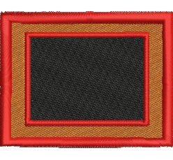Rectangular Crest embroidery design