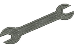 Open Ended Spanner embroidery design