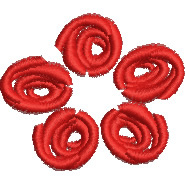 Rosettes embroidery design