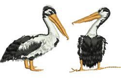 Pelican Conversation embroidery design