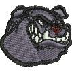 Snarling Bulldog embroidery design