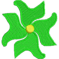 Abstract Flower embroidery design