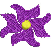 Abstract Flower Motif embroidery design