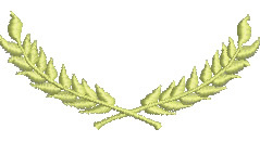 Wheat Wreath embroidery design