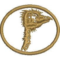Crazy Emu embroidery design