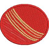 Cricket Ball embroidery design