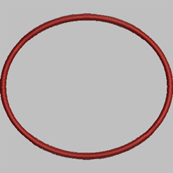 Circle embroidery design