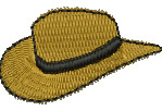 Outback Hat embroidery design