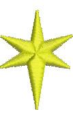 Golden Star embroidery design