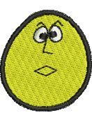 Bewildered Egghead embroidery design