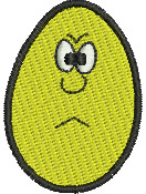 Angry Egghead embroidery design