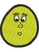 Surprised Egghead embroidery design
