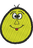 Stupid Egghead embroidery design