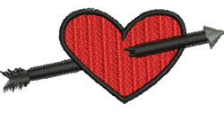 Shot Through the Heart embroidery design