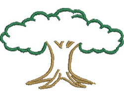 Tree Outline embroidery design
