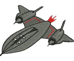 Blackbird Spy Plane embroidery design