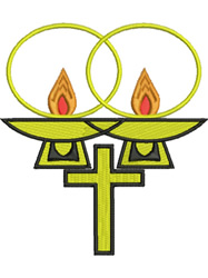 Church Candles embroidery design