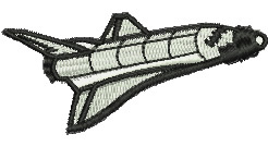 Space Shuttle embroidery design