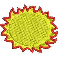 Blazing Sun embroidery design