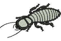 Termite embroidery design