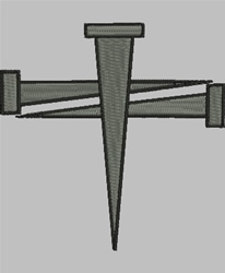 Cross of Nails embroidery design