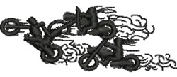 Bikers embroidery design