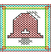 Cross Stitch Bell embroidery design