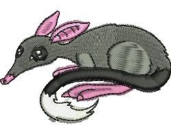 Australian Bilby embroidery design