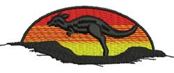 Kangaroo at Sunset embroidery design
