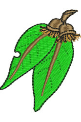 Gum Leaves embroidery design