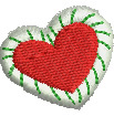 Candy Heart embroidery design