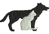Cat and Dog embroidery design