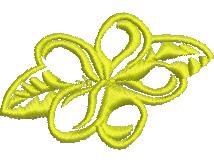 Yellow Frangipani embroidery design