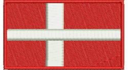 Danish Flag embroidery design