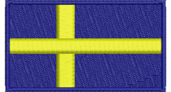 Swedish Flag embroidery design