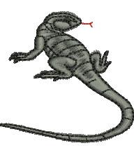Rock Lizard embroidery design