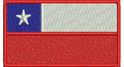 Chilean Flag embroidery design