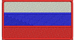 Russian Federation Flag embroidery design