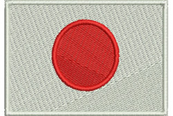 Flag of Japan embroidery design