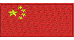 Flag of China embroidery design