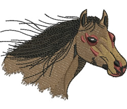 Horse with Flowing Mane embroidery design