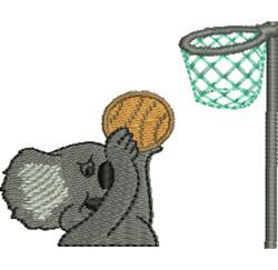 Basketball Koala embroidery design