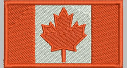 Flags Canadian embroidery design