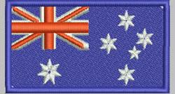 Flags Australia embroidery design