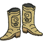 Western Boots embroidery design