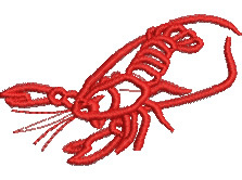 Crawfish embroidery design