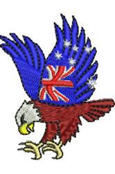 Australian Patriotic Eagle embroidery design