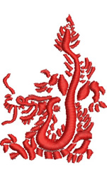 Firebreathing Dragon embroidery design