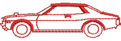 Car Outline embroidery design
